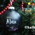 DIY Kids Chalkboard Ornament