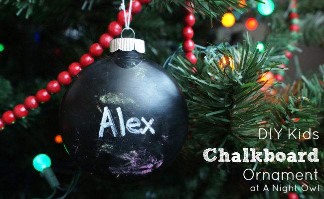 DIY Kids Chalkboard Ornaments at @anighowlblog