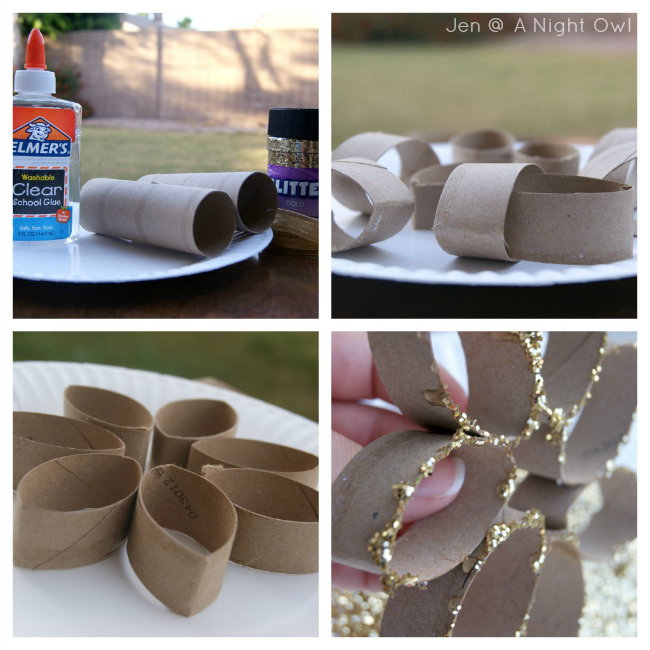 Diy snowflake ornament a night owl blog for Snowflake out of toilet paper rolls