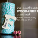 DIY Hand-Stamped Wood Chip Letter Ornament