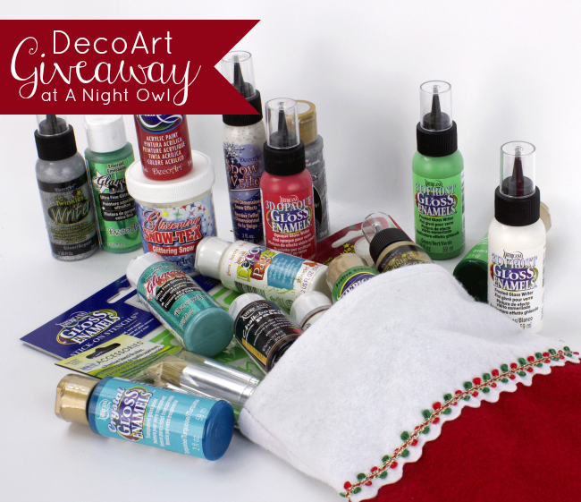 DecoArt Giveaway at @anightowlblog