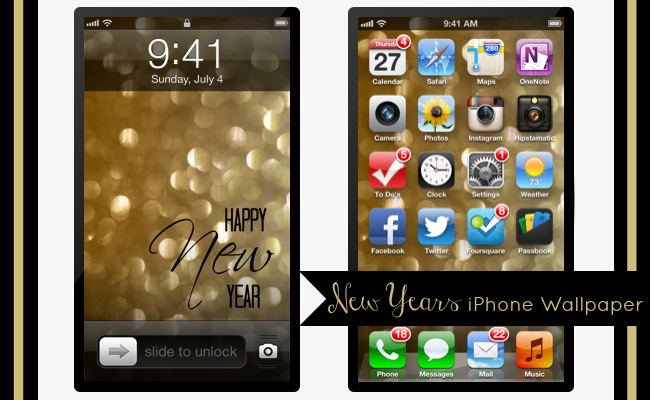 Happy New Year iPhone 4 and 5 Wallpaper at @anightowlblog