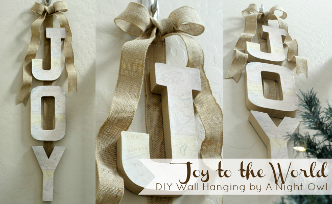 Joy to the World DIY Wall Hanging @anightowlblog