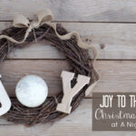Joy to the World Christmas Wreath