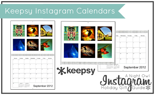 Keepsy Instagram Calendars - A Night Owl Instagram Holiday Gift Guide #ANOInstagramGG