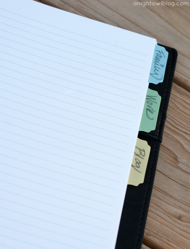 Martha Stewart  Home Office with Avery Discbound Customizable Notebook Review at @anightowlblog