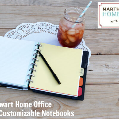 Martha Stewart Home Office with Avery Discbound Customizable Notebook Review at @anightowlblog 2