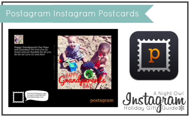 Postagram Instagram Postcards - A Night Owl Instagram Holiday Gift Guide #ANOInstagramGG