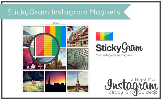 StickyGram Instagram Magnets - A Night Owl Instagram Holiday Gift Guide #ANOInstagramGG