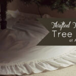 {Thrifty Thursday} No-Sew Thrifted Tablecloth Tree Skirt