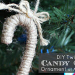 DIY Twine Candy Cane Ornament