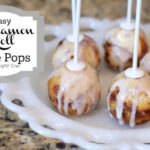Cinnamon Roll Cake Pops