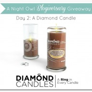 #ANOBlogiversaryGiveaway :: Day 2 :: Diamond Candles