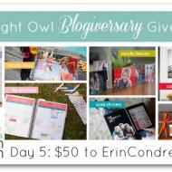 #ANOBlogiversaryGiveaway :: Day 5 :: ErinCondren.com