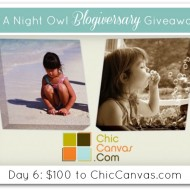 #ANOBlogiversaryGiveaway :: Day 6 :: ChicCanvas.com