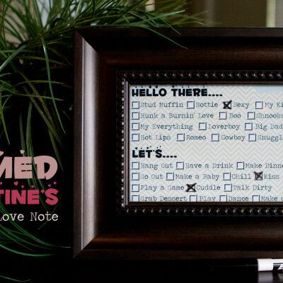 Framed Valentine's Dry Erase Love Note
