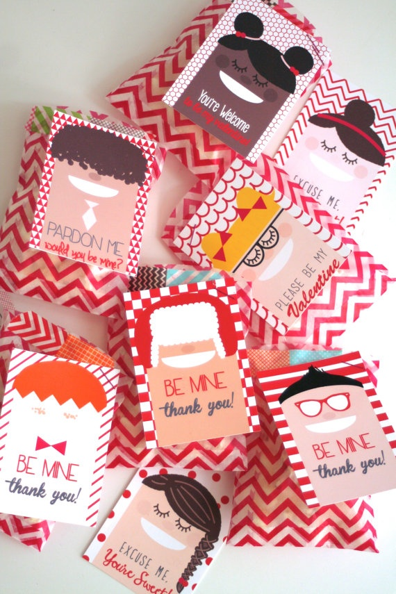 Adorable FREE Valentine's Day favor printables!