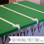 Easy Football Field Party Table