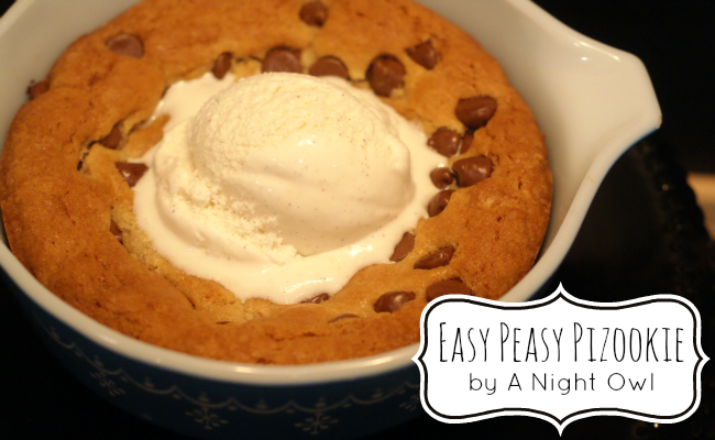 "Easy Pizookie ""Pizza Cookie"" 