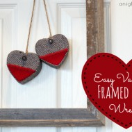 Easy Framed Heart Wreath