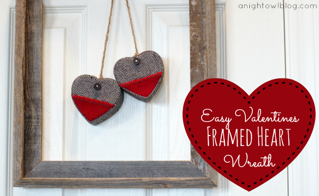 Easy Framed Heart Wreath | A Night Owl Blog