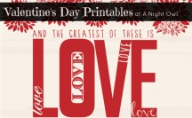 Free Valentine's Day Printables at @anightowlblog