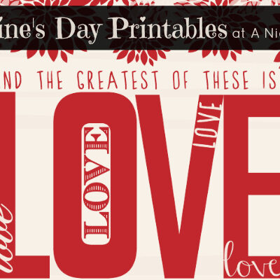 Free Valentine's Day Printables at @anightowlblog