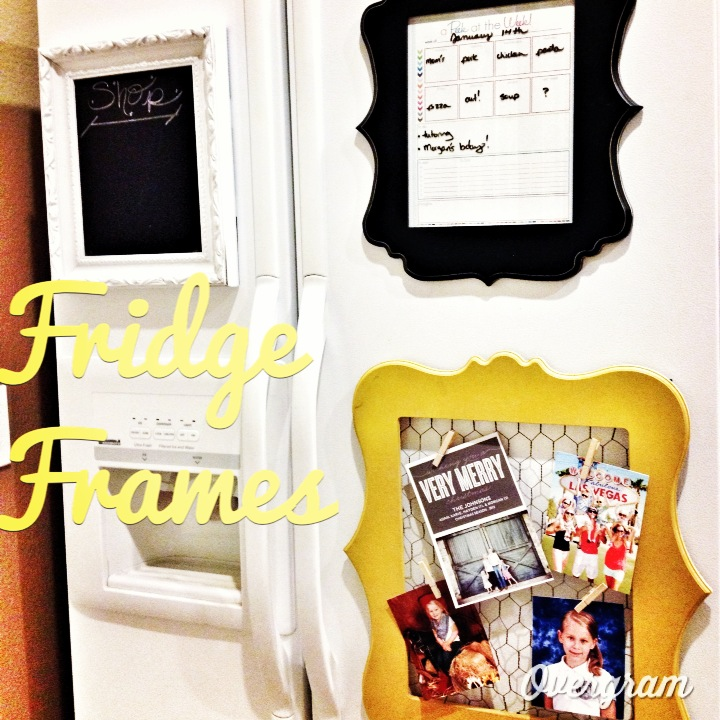 diy fridge frame organization by junk in the trunk vintage market