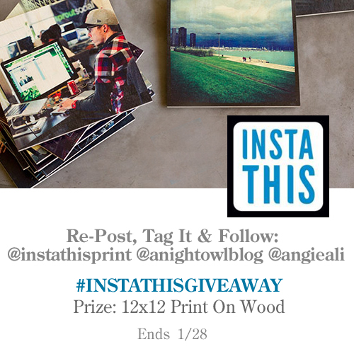 InstaThis Instagram ONLY-Giveaway with @instathisprint @anightowlblog @angieali  #InstaThisGiveaway