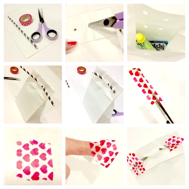 Washi tape and straw arrow tutorial { anightowlblog.com } #valentines #washi