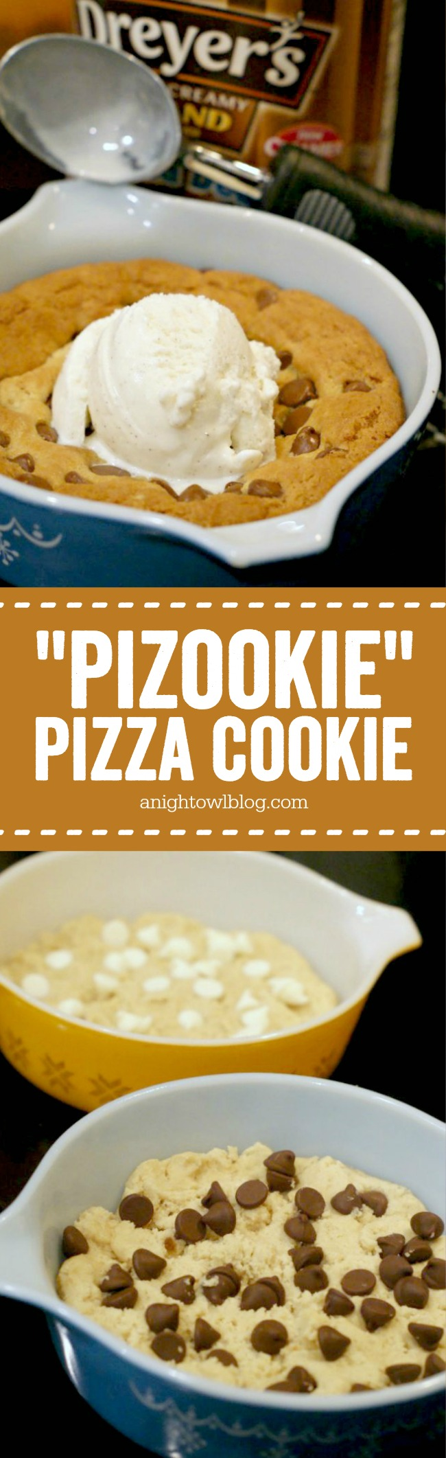 "Learn how to make your own BJ's or Oregano's ""Pizookie"" Pizza Cookie at home!"