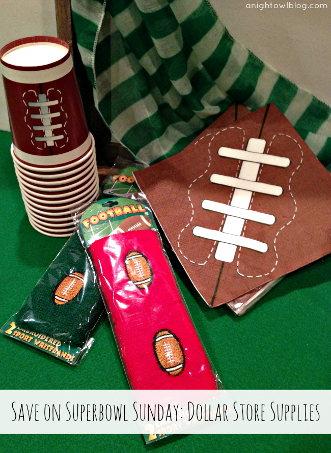 Shop the Dollar Store for Superbowl Sunday! { anightowlblog.com } #ThriftyThursday #Superbowl #Party