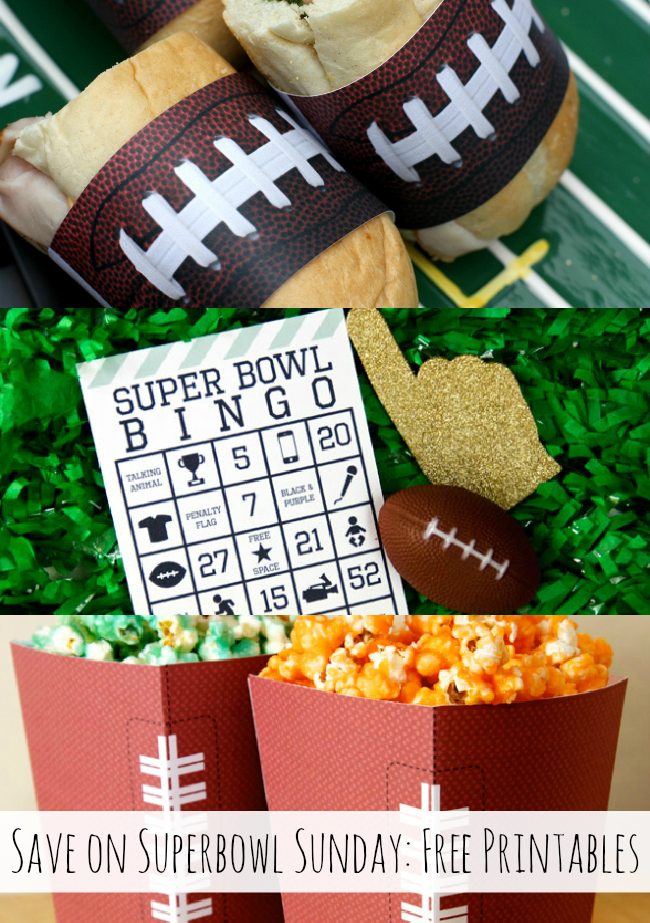 Use free printables for Superbowl Sunday! { anightowlblog.com } #ThriftyThursday #Superbowl #Party