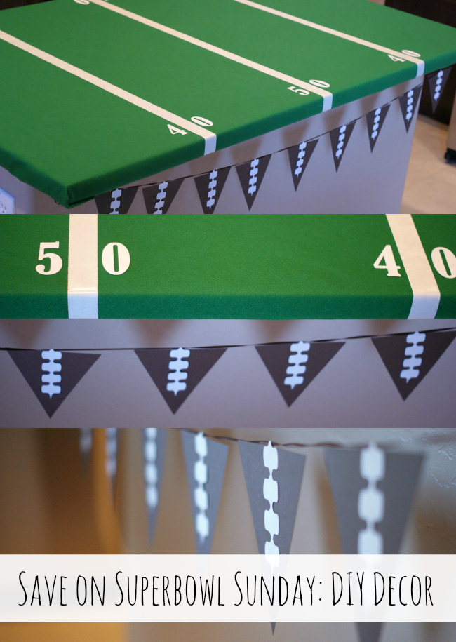 Make some DIY Decor for Superbowl Sunday! { anightowlblog.com } #ThriftyThursday #Superbowl #Party