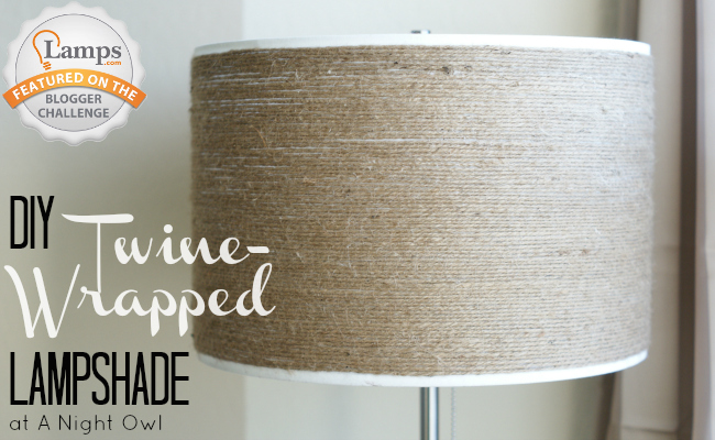 DIY Twine-Wrapped Lampshade by @anightowlblog