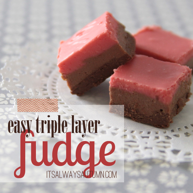 easy triple layer fudge by it