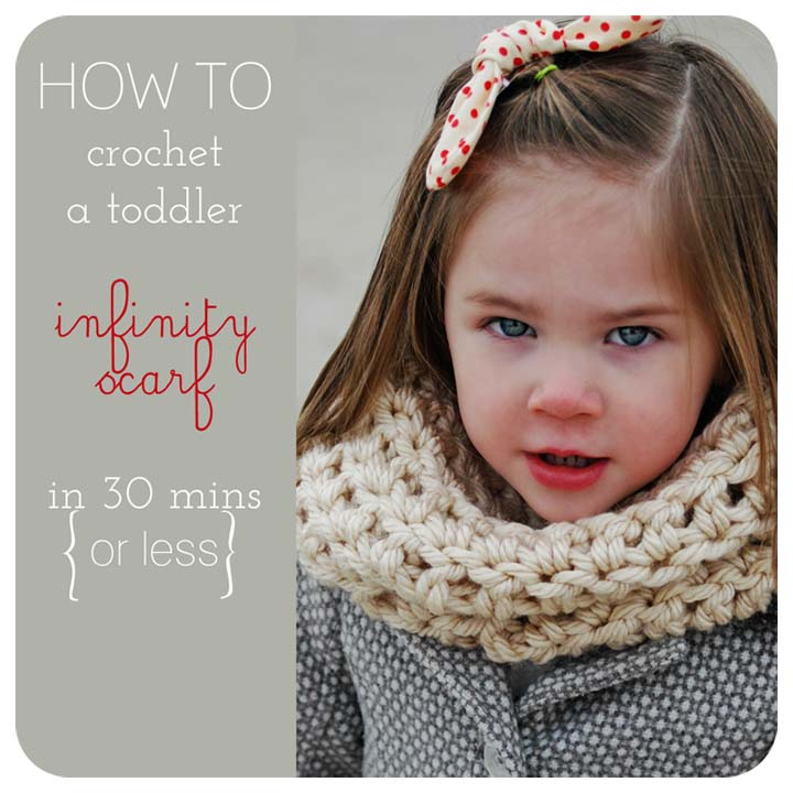 Crochet Infinity Scarf Free Tutorial : Create & Inspire Party 1/25 A Night Owl Blog