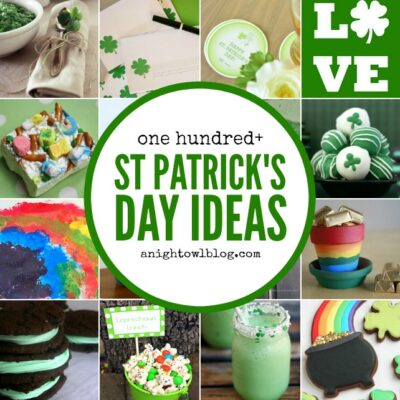 100 St. Patrick's Day Ideas - Recipes, Decor, Crafts + MORE! All you need to make your St. Patrick's Day memorable for your family! #stpatricks #stpatricksday #holiday