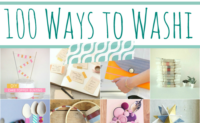 100 Ways to Washi