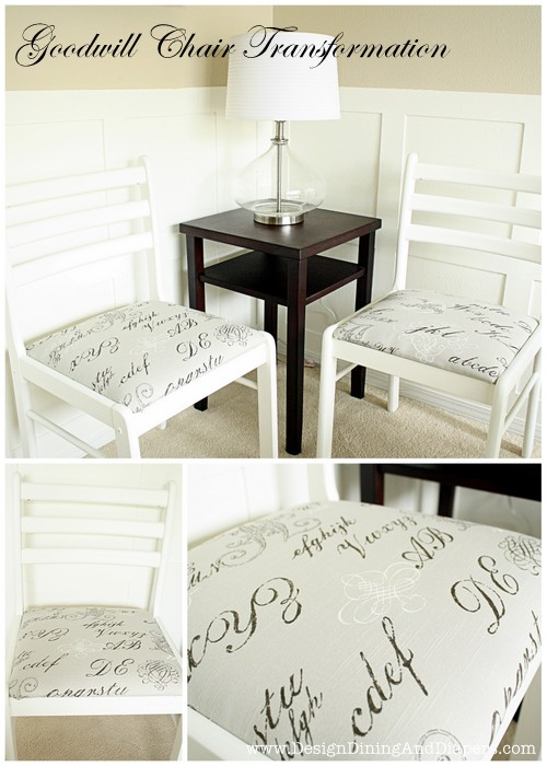 Chair Makeovers by Design, Dining & Diapers