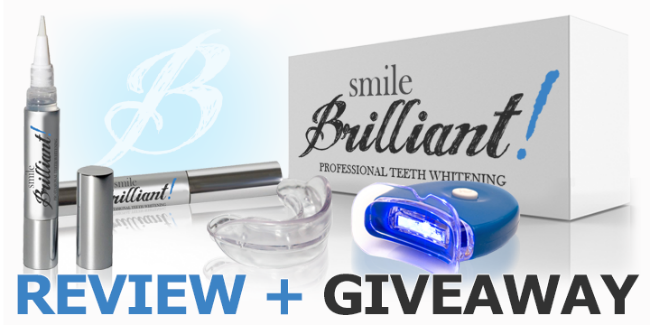 Smile Brilliant LED Teeth Whitening Review + Giveaway