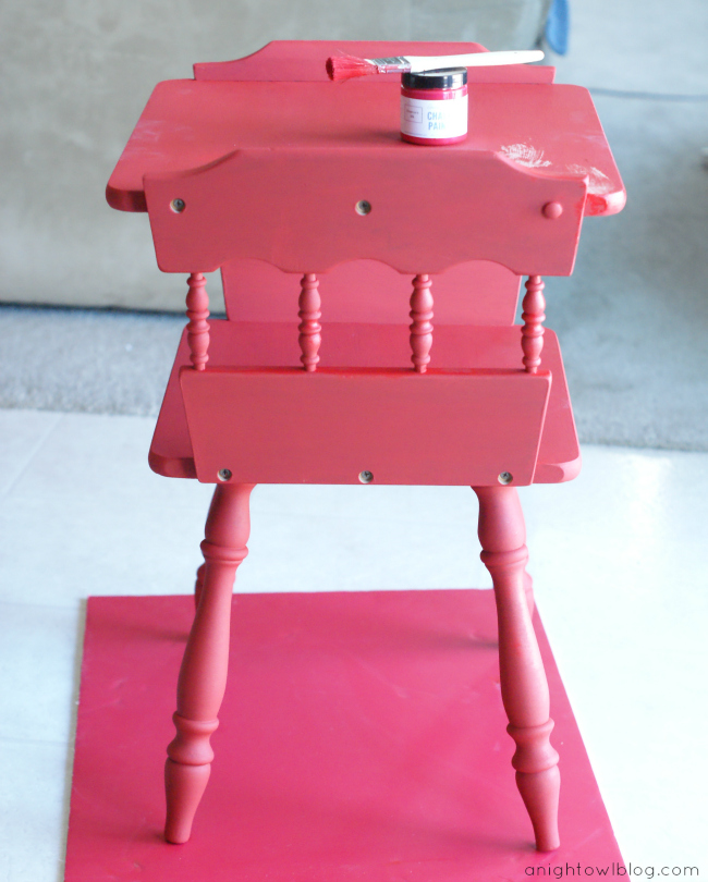 A Goodwill table updated with Annie Sloan Chalk Paint! #ASCP #Goodwill #Thrift #Upcycle