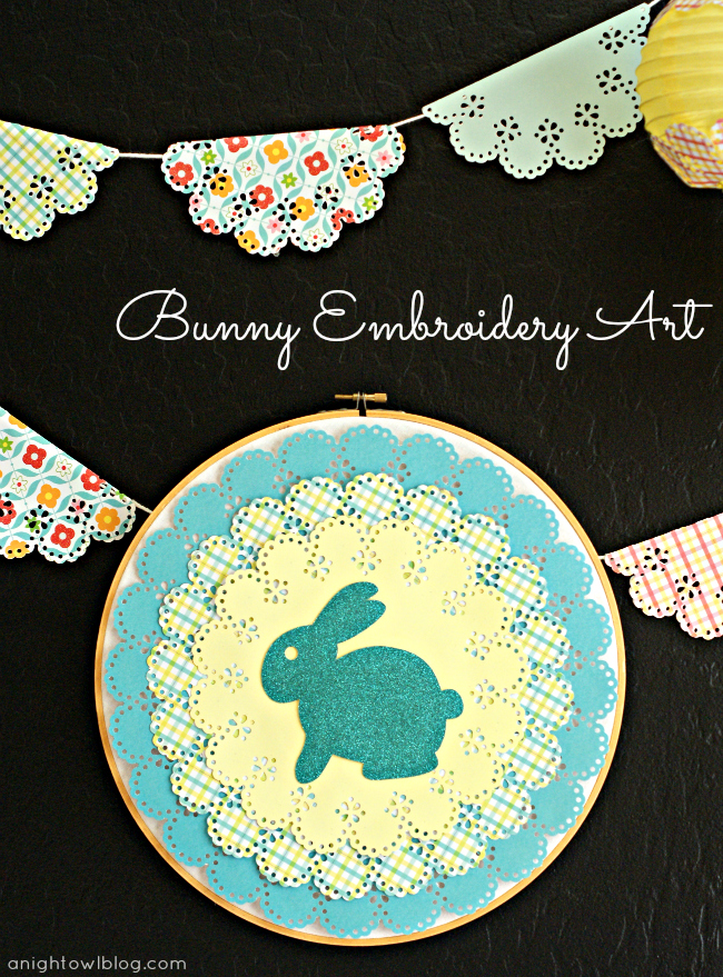Bunny Embroidery Art with Martha Stewart Crafts #12monthsofmartha #easter