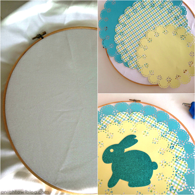 Bunny Silhouette Emroidery Tutorial at { anightowlblog.com }