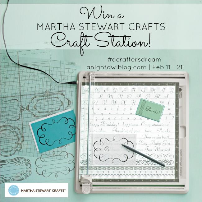 Martha Stewart Craft Station Giveaway at { anightowlblog.com }
