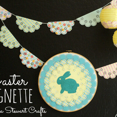 An Easter Vignette made with Martha Stewart Crafts #12monthsofmartha #easter