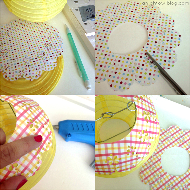 Embellished Lantern Tutorial at { anightowlblog.com }