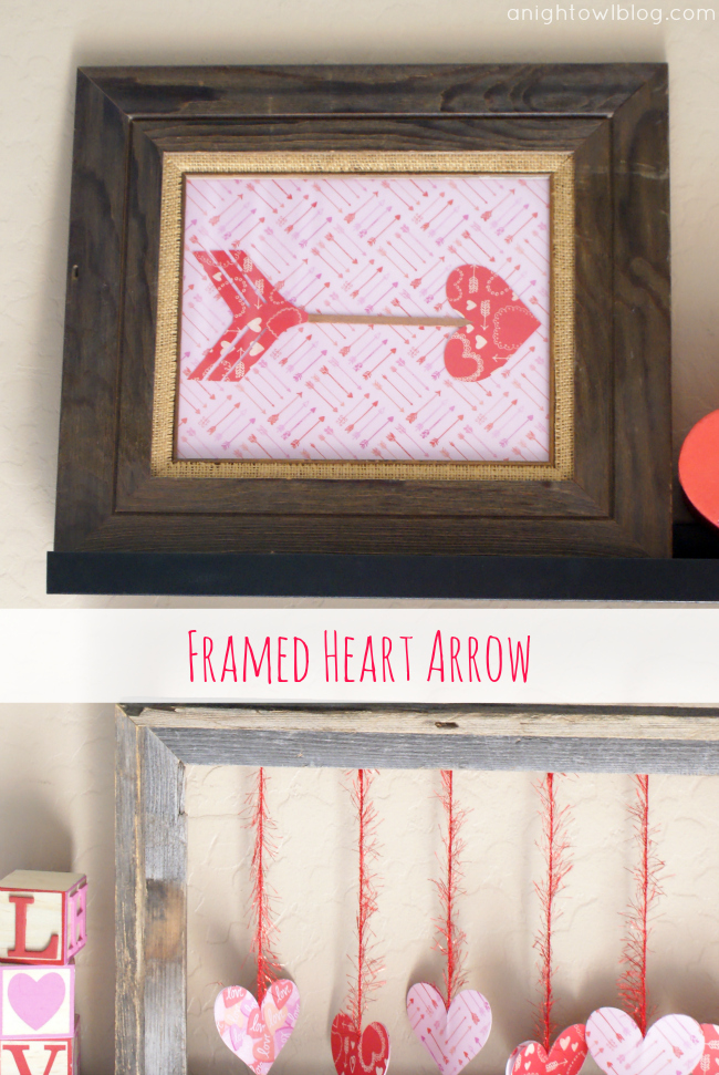 Framed Heart Arrow with #MarthaStewartCrafts #12MonthsofMartha
