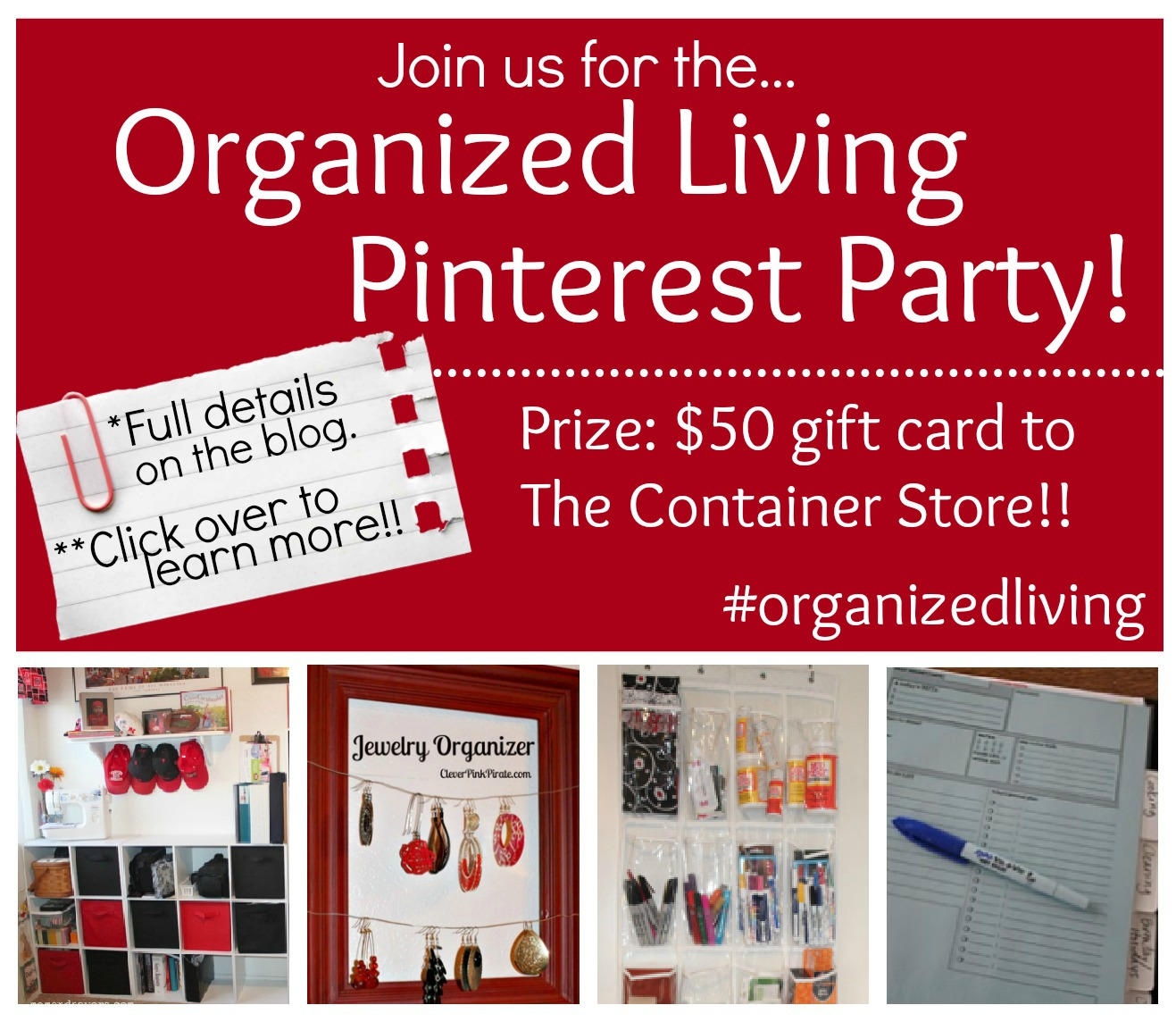 Organization Pinterest Party #organizedliving