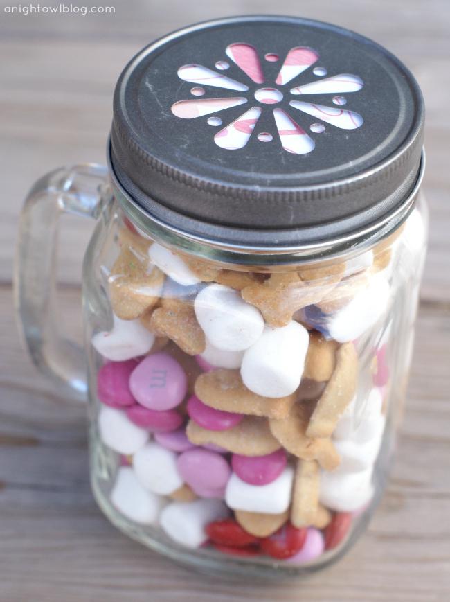 Valentines S'mores Mason Jars
